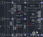 نقشه ساختمان 77متری ابعاد زمین 8در9.40یک خوابه یک طبقه