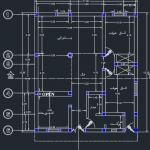 نقشه ساختمان 146.85 متری ابعاد زمین 11 در12.85 دو خوابه