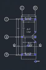 نقشه ساختمان 46 متری ابعاد زمین 3.70 در 9.25 دو خوابه