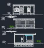 نقشه ساختمان 71.23 متری ابعاد زمین 9.25 در 7.20 یک خوابه