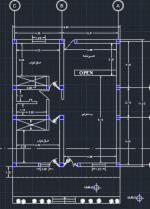 نقشه ساختمان 121.80 متری ابعاد زمین 9.90 در 11.80 دو خوابه